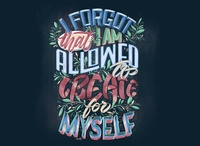 """""""Create for Myself"""" Hand Lettering"""
