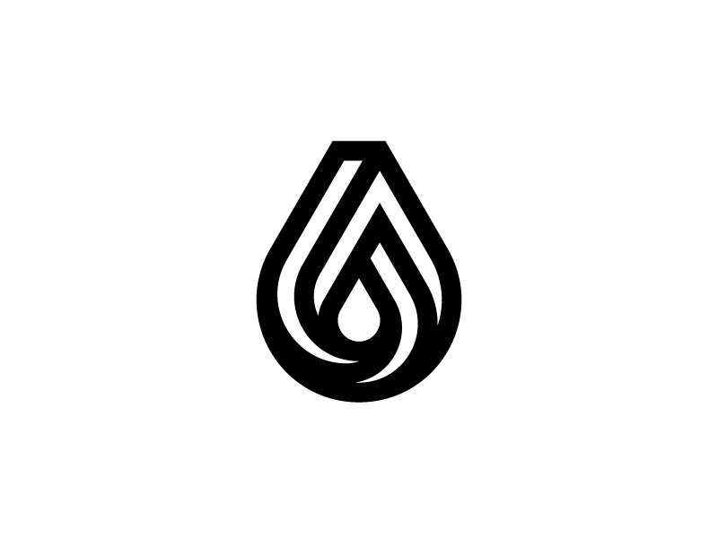 Penrose Drop symbol mark lines penrose water logo drop