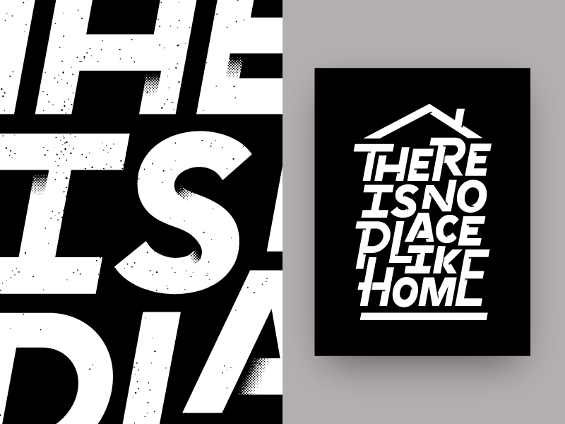 Afterhours Poster custom type home texture typography type lettering poster