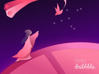 Hello Dribbble and Happy Chinese Valentine's day
