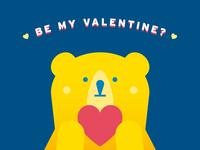 GOGOBEAR on a Valentine's Day