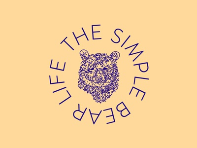 THE SIMPLE BEAR LIFE blog life the simple bear life logo bear