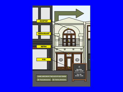 Poster for Outdoor Sign poster outline building outlines facade