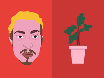 Face & plant play plant face illustrated illustration