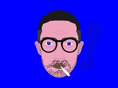 Self-illustration myself portrait self illustrated illustration