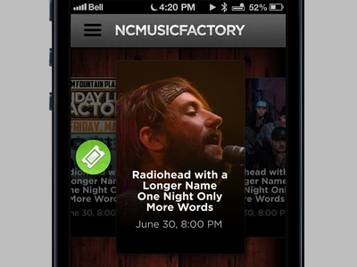New mobile site for NC Music Factory mobile ios css css3 html iphone android