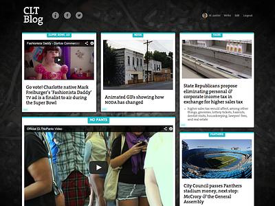 CLT Blog homepage responsive blog wordpress masonry jquery