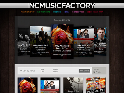 NC Music Factory 2.0 3d css animation css animation wordpress web design ui ux