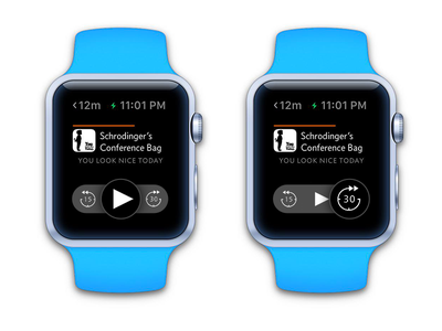 Playing around w/ @marcoarment's Overcast app smartwatch watch apple ios watchkit apple watch