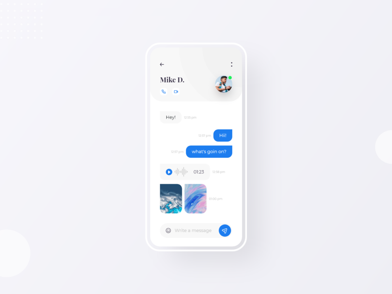 Day 05 | Message UI messages minimalist uxdesign uiux uidesign uiuxdesign chat app adobexd illustration modern trendy mobile app app mobile ui ui ios app clean ui ux design 10ddc