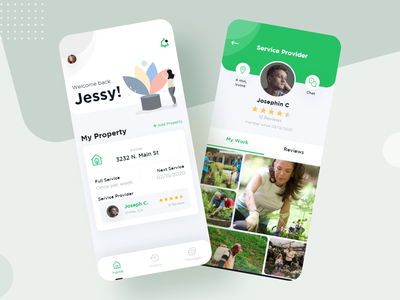 Gardeners finding App UI Design mobiledesign history messages searching iconsdesign appuiuxdesign appuidesign mobileappdesign illustration uiuxdesign uidesign ios app mobile ui ui app ux modern mobile app design clean ui