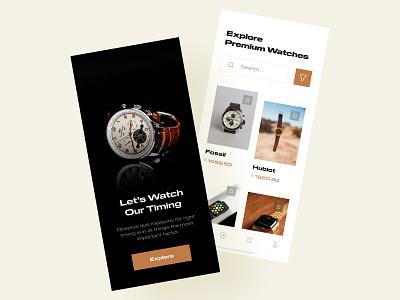 Watch Shop App UI Design ecommerce images explore appuiux uidesigner minimal uidesigns appui watch uiuxdesign ios app uidesign mobile ui design clean ui modern mobile app app ux ui