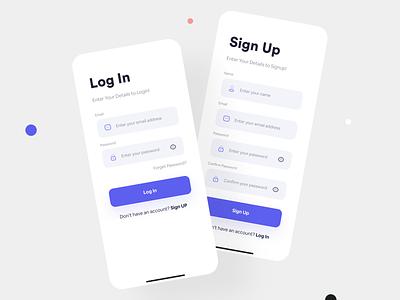 Login & Sign Up App UI Concept uiux minimalui mobiledesign concept signup login iosapp mobileui uiuxdesign appuidesign design clean ui ui modern mobile app app ux