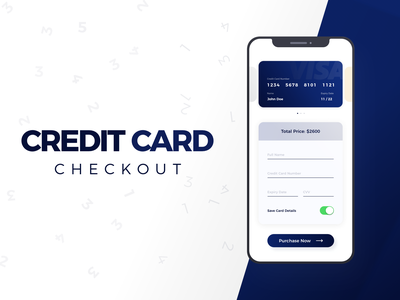 #DailyUI - Credit Card Checkout checkout creditcard design iphone app contrast blue app design ui typography colors dailyui daily 100 challenge