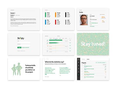 CI and Artboards artboards layout identity web design processing typography ci branding