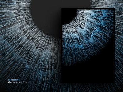 Generative Iris — another palette texture processing iris generative eye computation colorfull code artificial