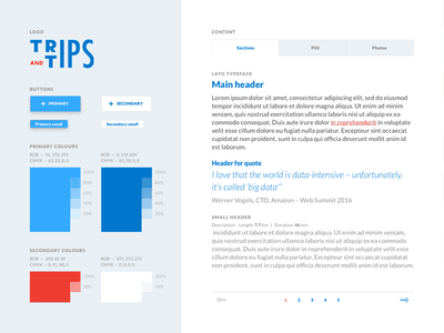 Trips and Tips — Style Guide homo faber typography sketch layout ci branding artboards style guide