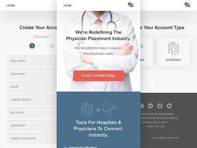 Locum Tenen Project doctor locum tenen form mobile responsive retina hospital physician