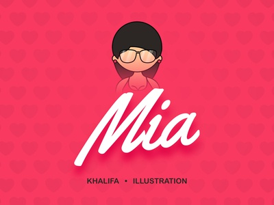 Mia Khalifa Illustration