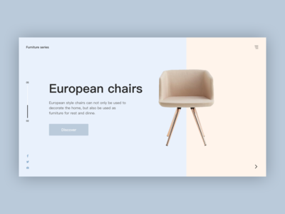 Furniture Website Design