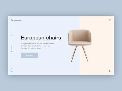 Furniture Website Design web design ui