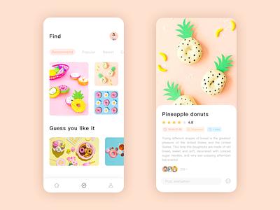 Summer Dessert 02 ux app design ui