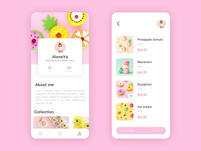 Summer Dessert 03 app design ui