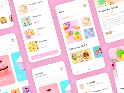 Summer Dessert 04 ux app design ui