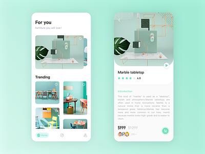 Furniture App app design ui