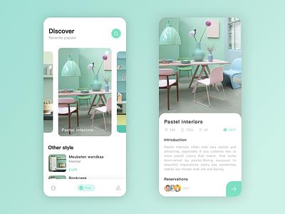 Furniture APP 2 app design ui