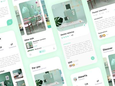 Funiture APP 3 app design ui