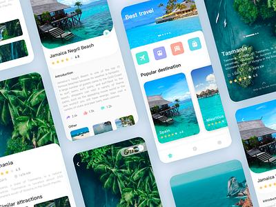 Travel App -3 app design ui