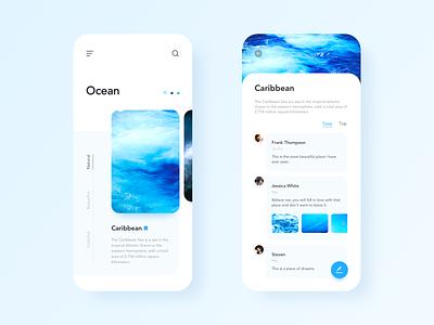 Share the dream place design clean ae ui ocean blue