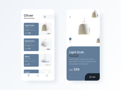 Light bulb display concept application