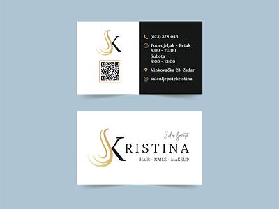 Business Card Design | Beauty salon Kristina logotype designer logotype design vector logotypes logotype logotipo logos logo guidelines brand identity typography logo design logo illustration identity design business cards business card business branding