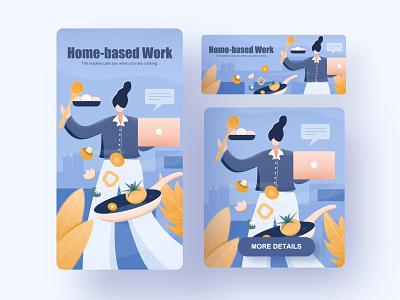 Home-based work ui illustration