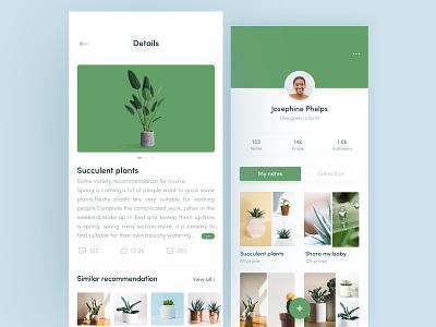 Green Plants App plant green app green ui