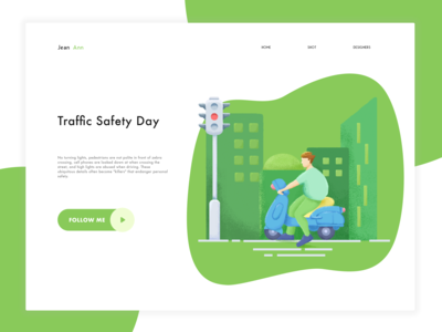 Traffic safety illustration