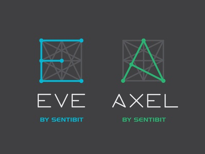 Logo system node product branding system brand geometric logo