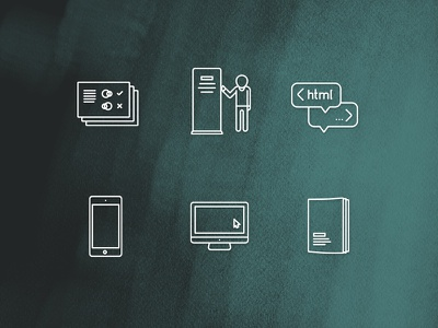 Sauricons Part III design monoline set icons booklet pc iphone html banner guide style icon