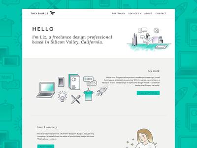 New site for Theysaurus valley silicon personal illustration ui design ui website designer freelance theysaurus rebrand