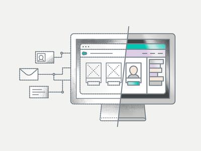 Digital Product Design interface user experience wireframe ui ux theysaurus website illustration design product digital