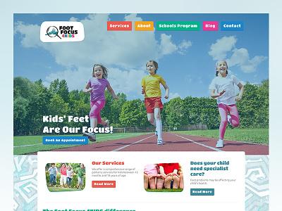 Foot Focus 4Kids Website wordpress medical health kids podiatry ui website