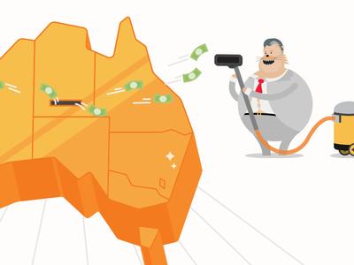 Fat Feline Infographic fintech finance infographic editorial illustration report