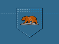 California Bear Lapel Pin