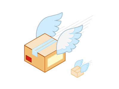 Shipping flat shipping illustration