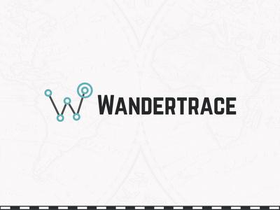 Wandertrace logo map hipster digital brand logo journal travel