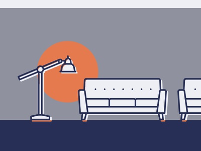 Home Decor & Furniture Icons by Theysaurus simple lounge living home homeware illustration icon furniture monoline