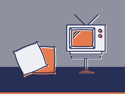 Home Icons cushion tv simple lounge living home homeware illustration icon furniture monoline