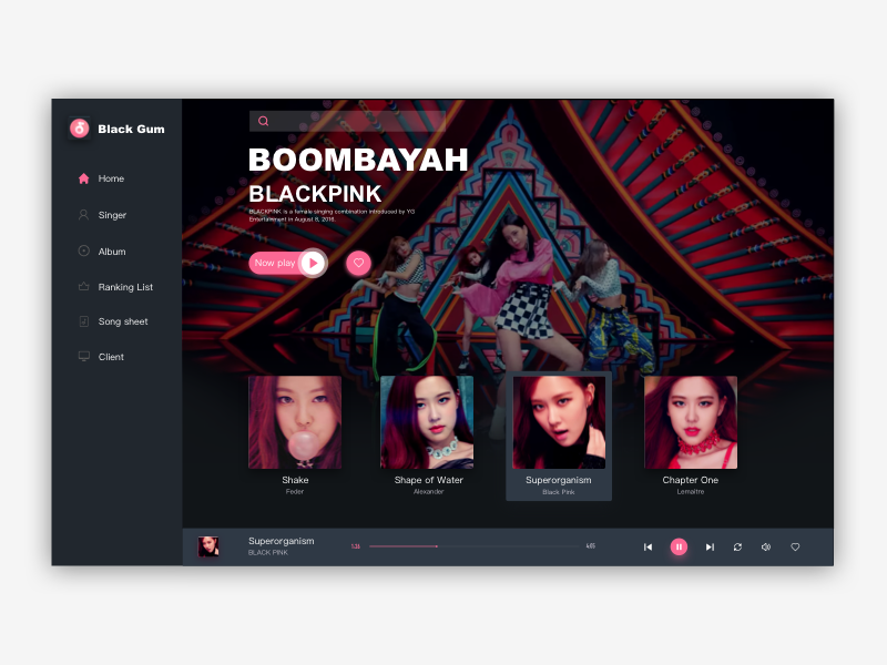 New Shot - New Music Interface.I hope you like it. ui
